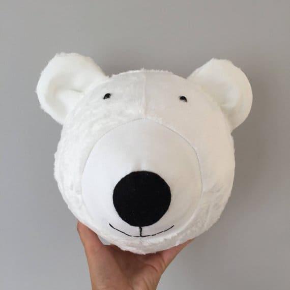 Tierkopf Eisbaer