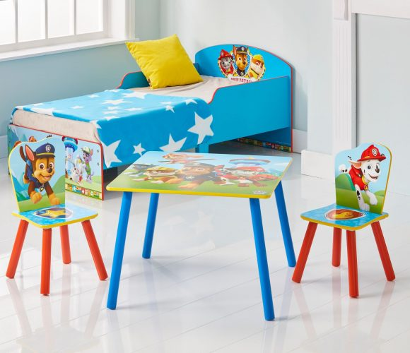 tisch set paw patrol tisch und 2 st hle f r kinder. Black Bedroom Furniture Sets. Home Design Ideas