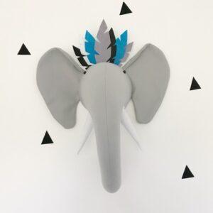 Wanddeko Elefant